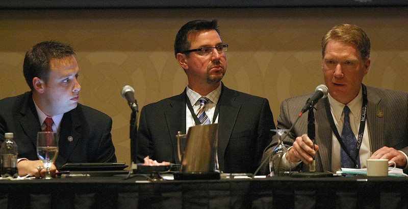 Panelists Jason Lambert, Kip Richie, Bill Lance speak at the National Center for American Indian Enterprise Development conference at the Hard Rock Hotel and Casino in Tulsa.<br /> <br /> Diversifying your economic Position - Kirbys story<br /> <br /> 10:30 Breakout session