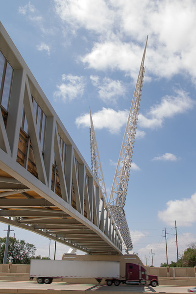 The SkyDance Bridge was recently recogonized as one of nations top art projects. The pedestrian bridge spans I-40 near Hudsun and is part of the planned park scheduled for construction next year.