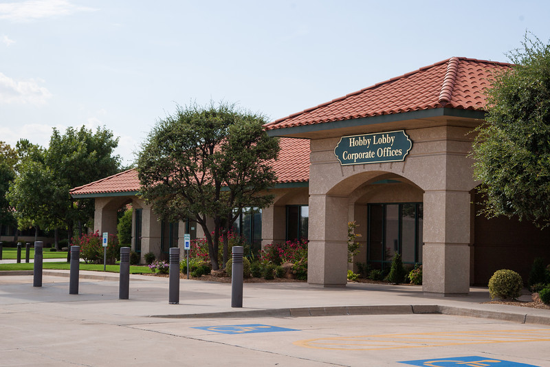Hobby Lobby headquarters located on the north-east corner of Council and SW 44th.