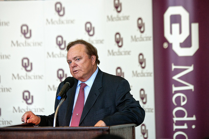 Harold Hamm speaks about the $10 million grant awarded to the Diabetes Center bearing his name.