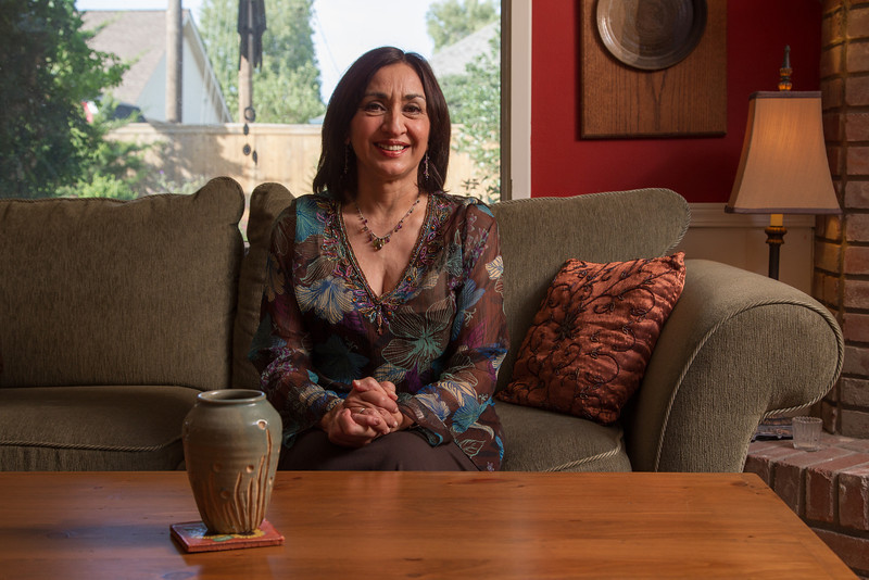 Feng shui consultant Sunita Sitara at home.