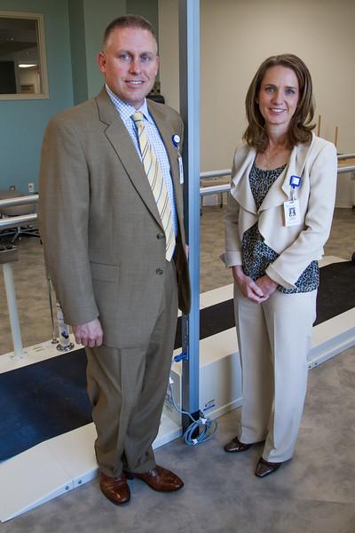 Jim Gebhart, president of Mercy Hospital and Sharon Smeltzer, CEO of Mercy Rehab Hospital