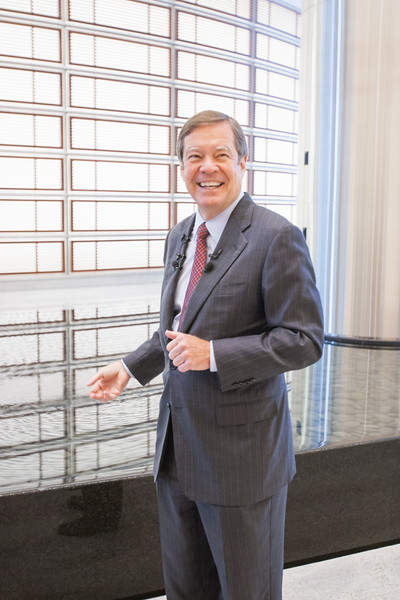 CEO Larry Nichols gives a tour of the noely opened Devon Tower.