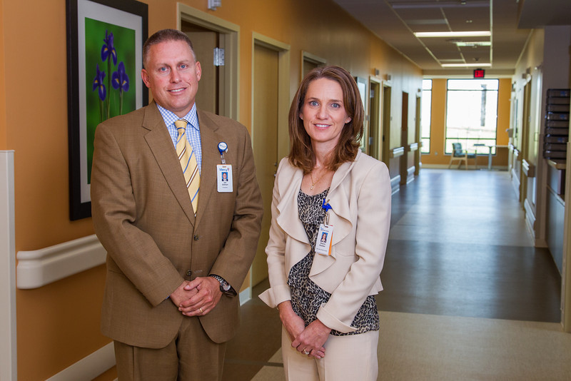 Jim Gebhart, president of Mercy Hospital and Sharon Smeltzer, CEO of Mercy Rehab Hospital