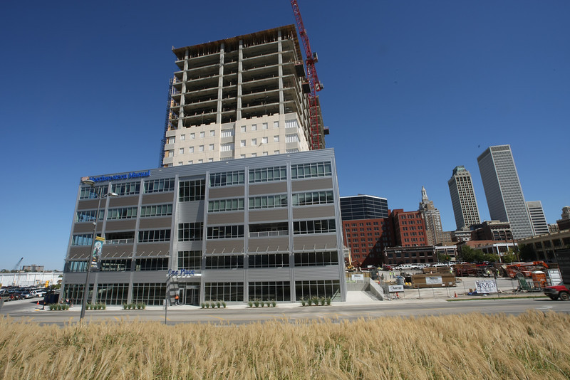 The One Place Tower under construction in downtown Tulsa.