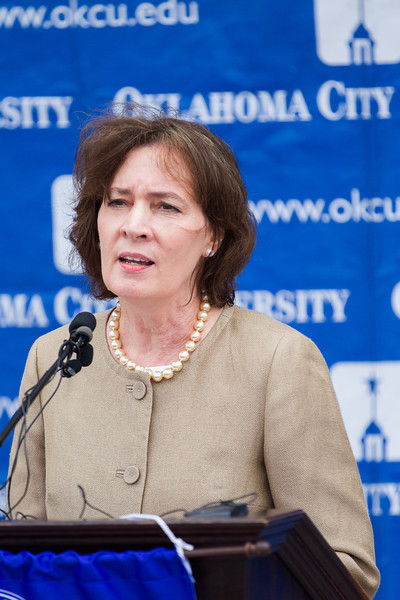 Valerie  Couch, dean of Oklahoma City University School of Law, speaks about the purchase of the Oklahoma Farmers and Ranchers building, located at 800 N Harvey, by OKCU. The building will house the school of law and be open for classes startinf fall of 2014.