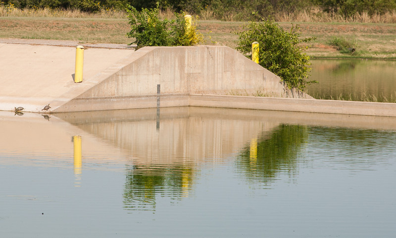 A waster water treatment pond in northwest Oklahoma City. The facility handles waste water from Bethany and War Acres.