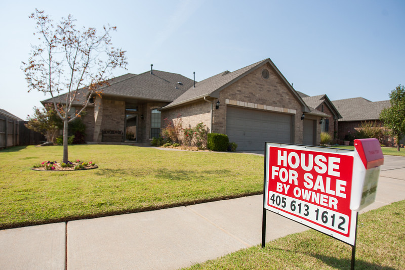 A home for sale in the Woodvine neihborhood in western Edmond.