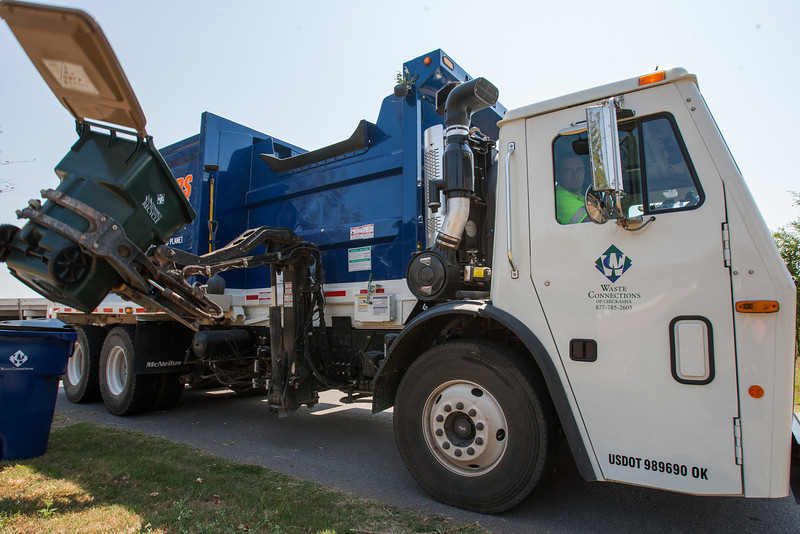 Chickasha has recently added recylcing pickup in addition to trash collection.