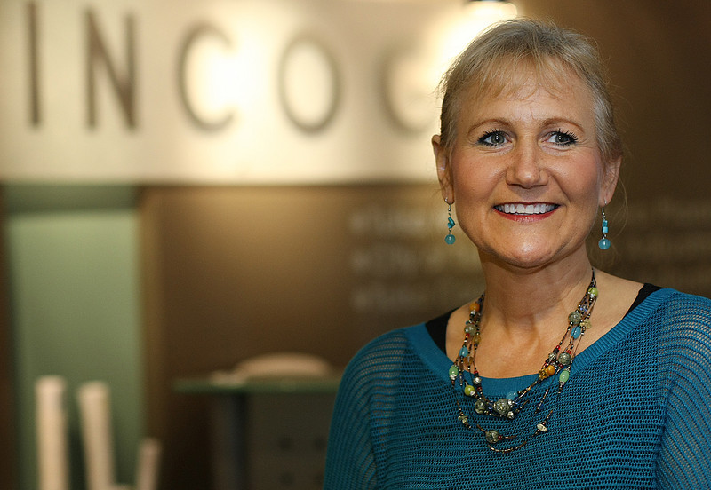 Nancy Graham, Air Quality Program Manager, pauses for a photo at the Tulsa office of INCOG.