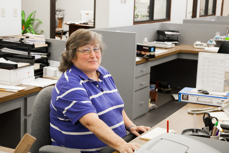 Joy Harris works in data entry at the Oklahoma County Election board.