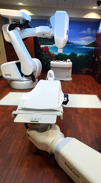 The CyberKnife at the Cancer Treatment Centers of America in Tulsa.