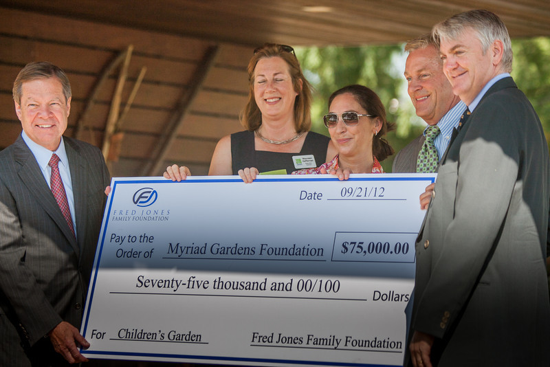 The Fred Jones Family Foundation announced a gift for the Children's Garden at the Myriad Gardens.