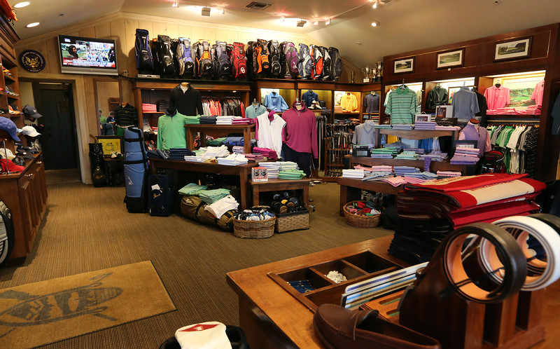 The  pro shop at the Tulsa Hills County Club.