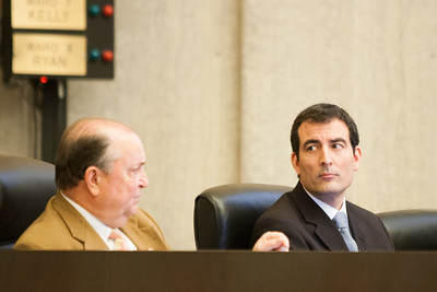 Oklahoma City councilman Ed Shadid (right).