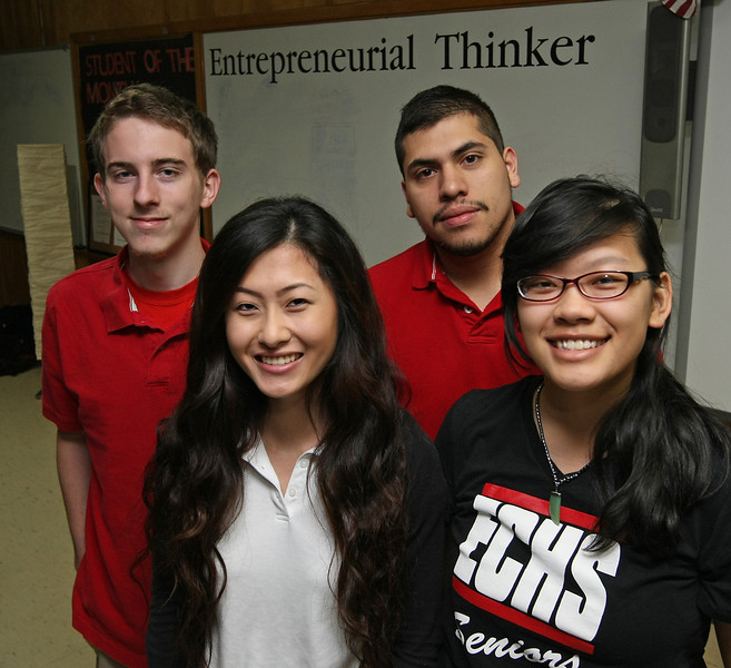 East Central High School students Duachi Moua, Mai Ka Vang, David Jones and Rafael Estrada<br /> <br /> will represent Oklahoma at the national competition in May.  They placed in the Small Business Management competition.
