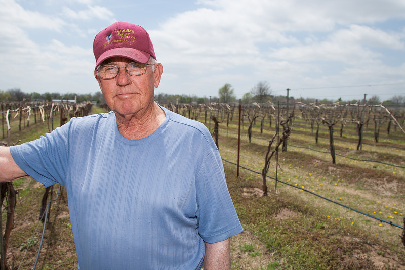 Gene Clifton, owner of Canadian River Winery in Lexington, OK.