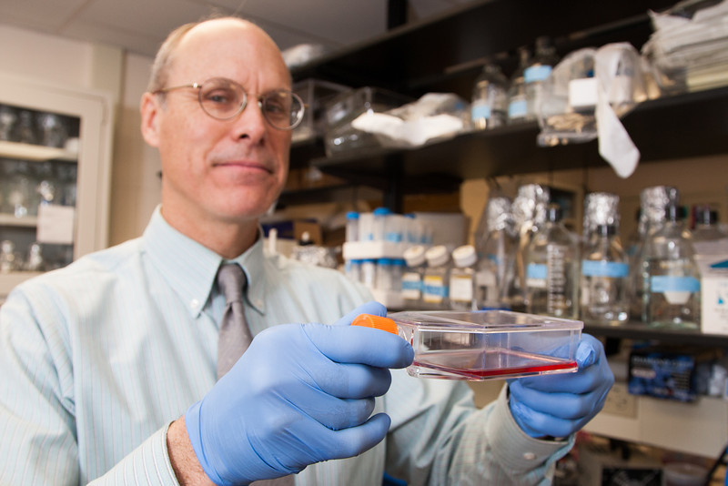 Dr Myron Hinsdale in his lab at Oklahoma State University in Stillwater, OK.