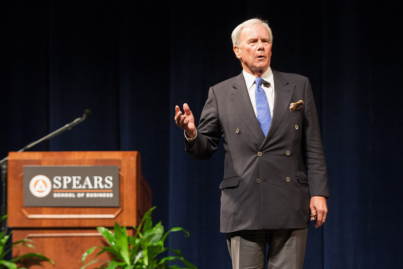 Tom Brokaw was the guest speaker at Oklahoma State's 25th Executive Management Briefings.This year's session was held at the Civic Center in Oklahoma Center.