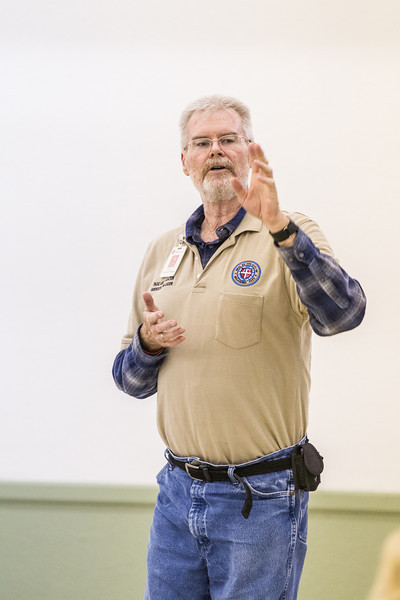 Louis Scott with, Oklahoma City Parks and Recreation, gave a class on xeriscaping at the Will Rodgers Garden Exhibition Center. The class covered incorperating plants that are more drought and heat resistant into landscaping.