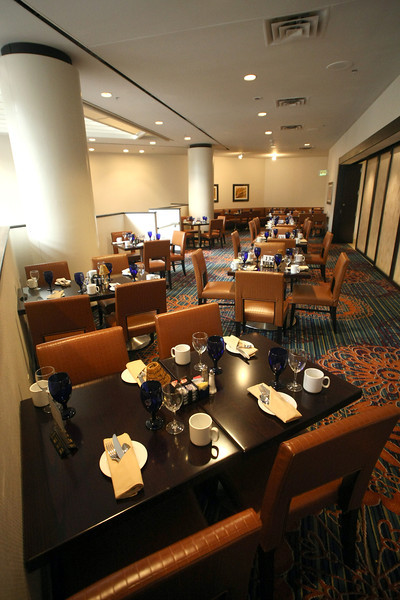 The restaurant at the newly remodeled Souther Hills Marriott in Tulsa.