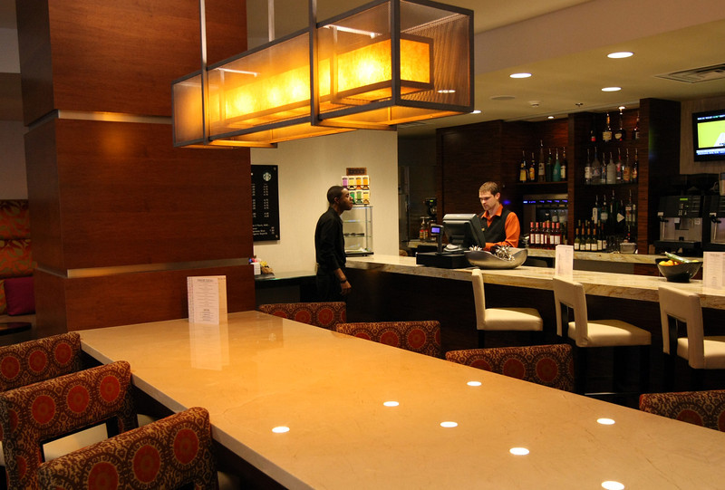 The Cocktail bar at the newly remodeled Souther Hills Marriott in Tulsa.