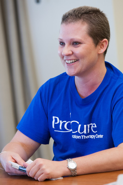 Cancer surviver Amber Nitzel underwent proton therapy as part of her treatment.