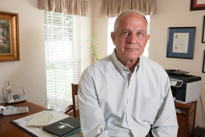 Dennis Cotner, owner of Medtrieval in his home office in Oklahoma City.