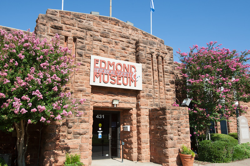 The Edmond Armory Building houses the Edmond Historical Socioty and Museum at 431 S Boulavard in Edmond, OK.