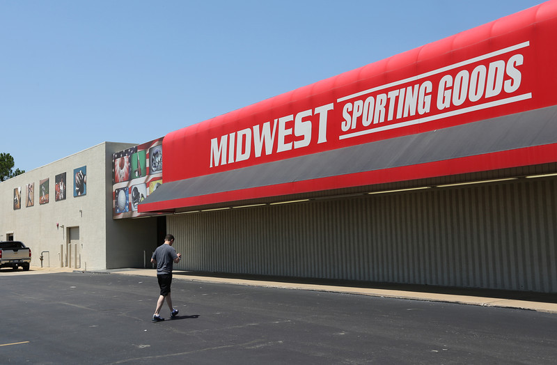The Midwest Sporting Goods store in east Tulsa.