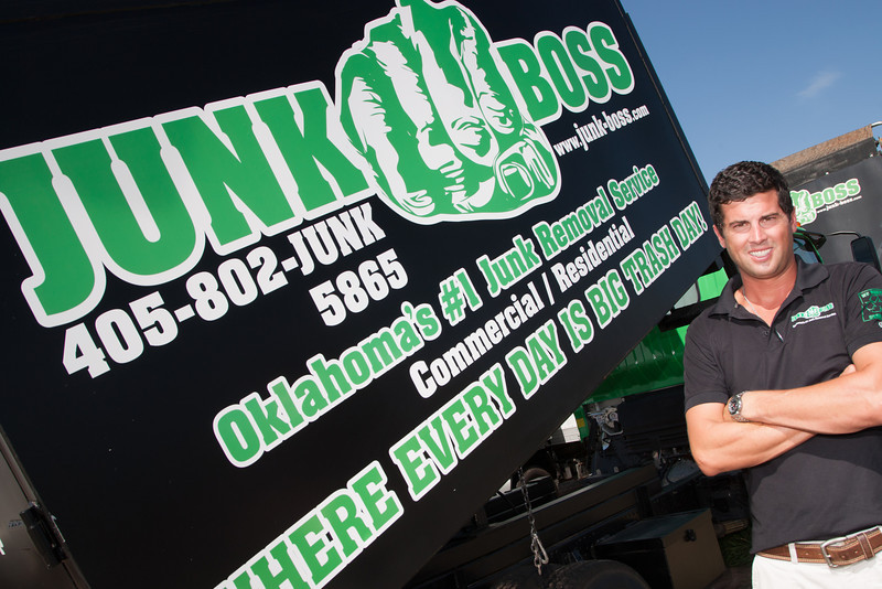 Hunter Magnus, owner of Junk Boss in Edmond, OK.