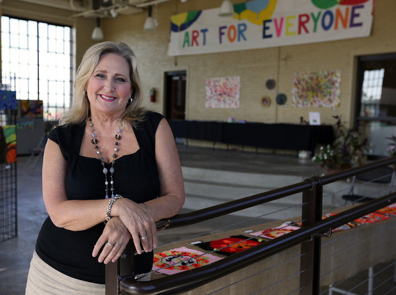 WaterWorks Art Center Executive Director Lee Anne Zeigler pauses for a photograph.
