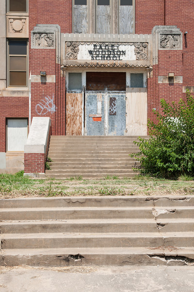 The Page Woodson school building in Oklahoma City, OK.