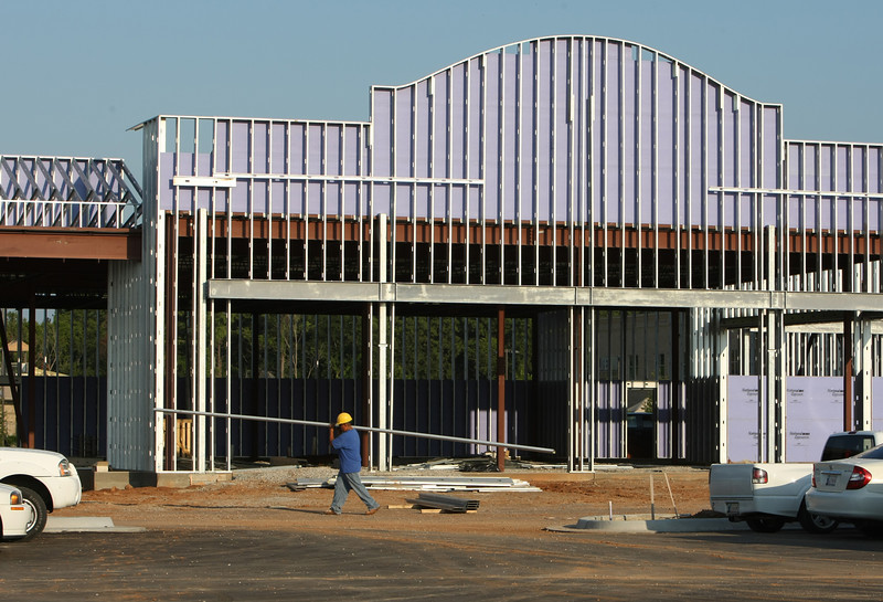 Construction continues at the Vineyard shopping center at 109th and Memorial in Bixby.