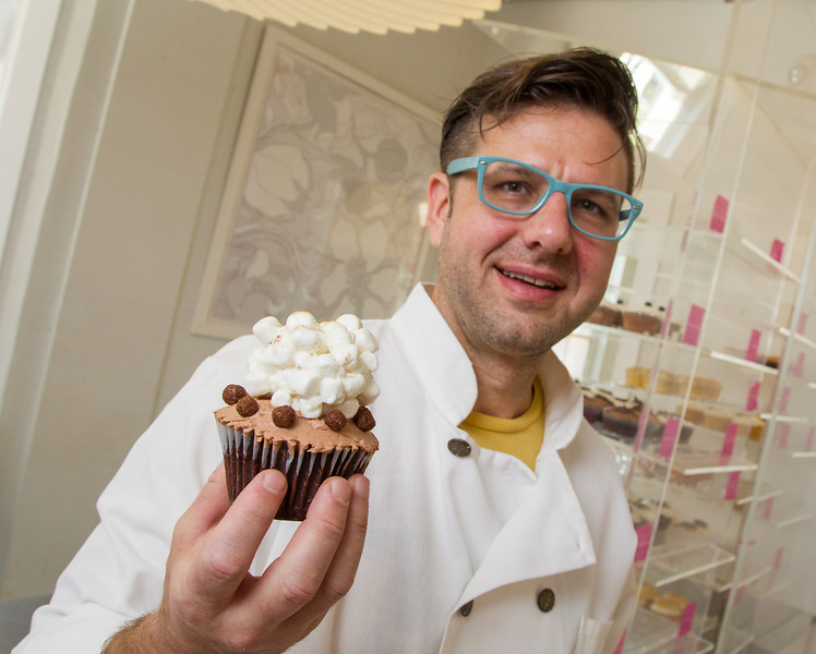 Eric Smith, part owner of family owned Sara Sara Cupcakes in Oklahoma City, OK.