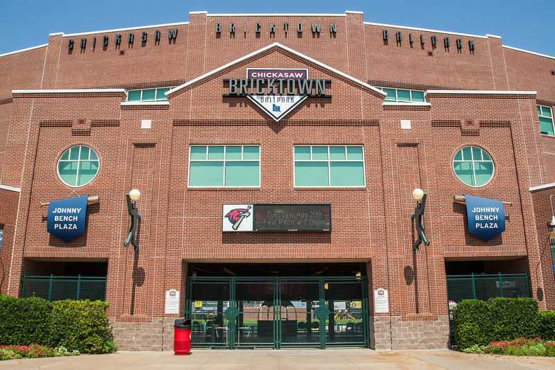 The Chickasaw Bricktown Ballpark in downtown Oklahoma City, OK