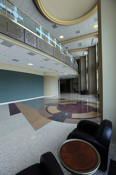 The main lobby of the Performing Arts Center in Claremore.