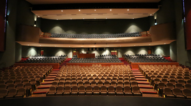 The main concert hall of the Performing Arts Center in Claremore.