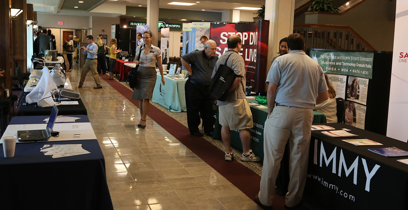 Vendors row at the 2013 Technology Showcase held at the NSU Broken Arrow campus.
