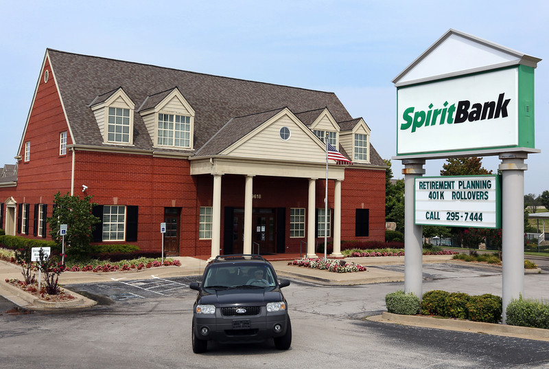 The SpiritBank branch in South Tulsa. SpiritBank posted a $1.49 million net loss for the second quarter.