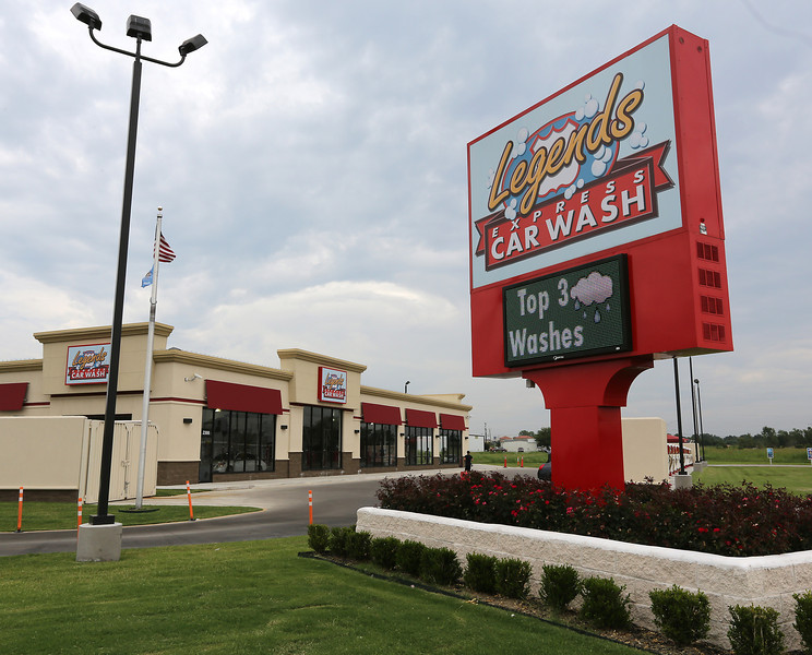 The Legends Express Car Wash in Broken Arrow.