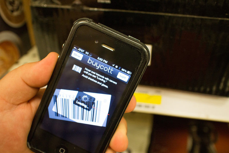 A phone app called Buycott allows the user to see who benifits from their spending.
