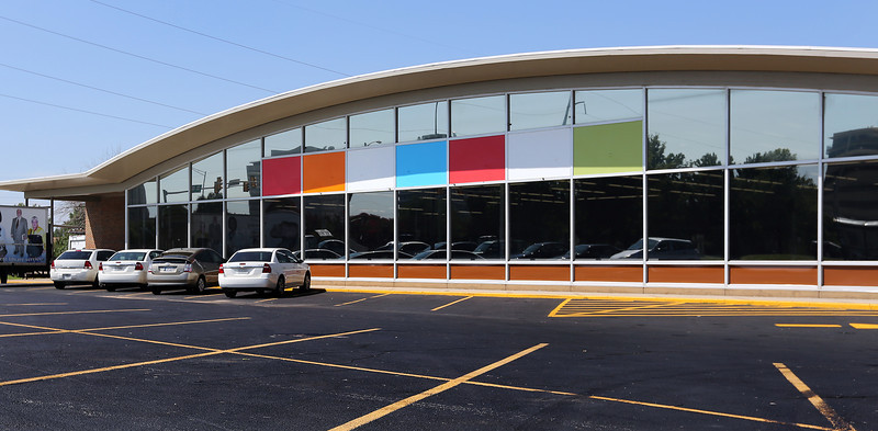 The Tulsa Librarium, near downtown Tulsa,  nears completion.