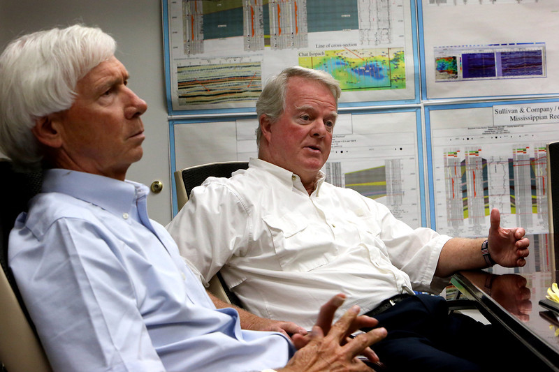 Rob Lyon, president of Link Oil and president of the Osage Producer Association and Bob Sullivan Jr., owner of Sullivan and Co. LLC. discuss the Osage minerals council members trip to Washington.