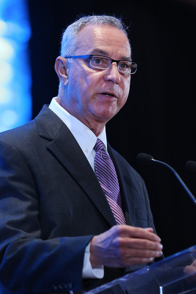 Jim Huntzinger, Executive Vice President and Chief Investment Officer at the Bank of Oklahoma, gives his presentation at the 2014 Economic Outlook Conference Wednesday in Tulsa.