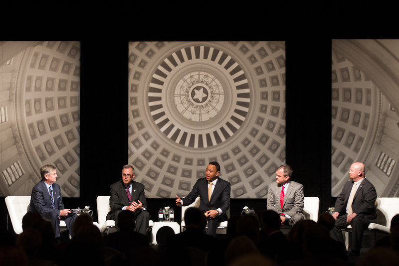 The State Chamber of Commerce hosted a panel discussion with the leaders from the Oklahoma House and Senate.