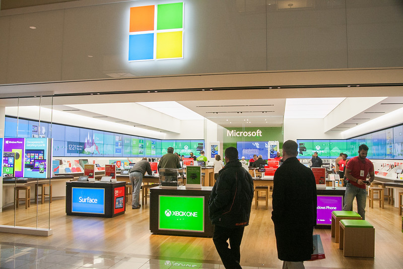 The Microsoft store is one of the recent addiaitions to Penn Square Mall in Oklahoma CIty, OK.