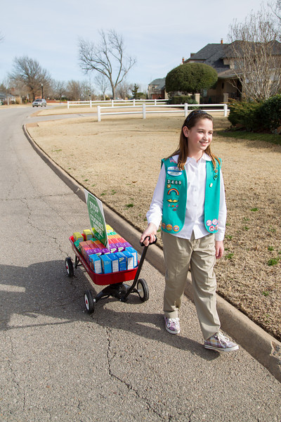 Katie Francis was the top seller of Girl Scout Cookies in 2012.