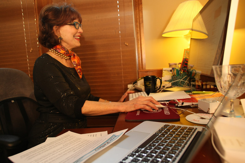 Jean Kelley, Industrial Sociologist, at her office in Tulsa.