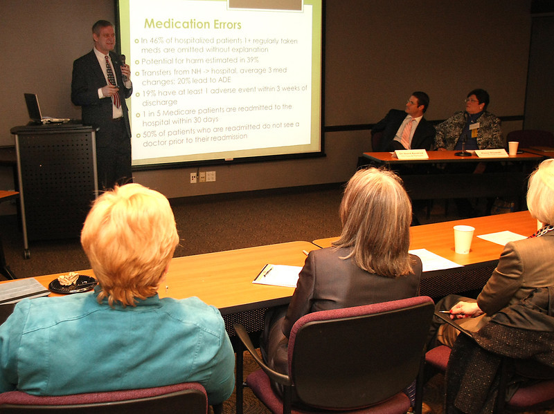 Dr. Jack Sommers gives his presentation agh the Tulsa Regional Chambers Health Care Forum Tusday